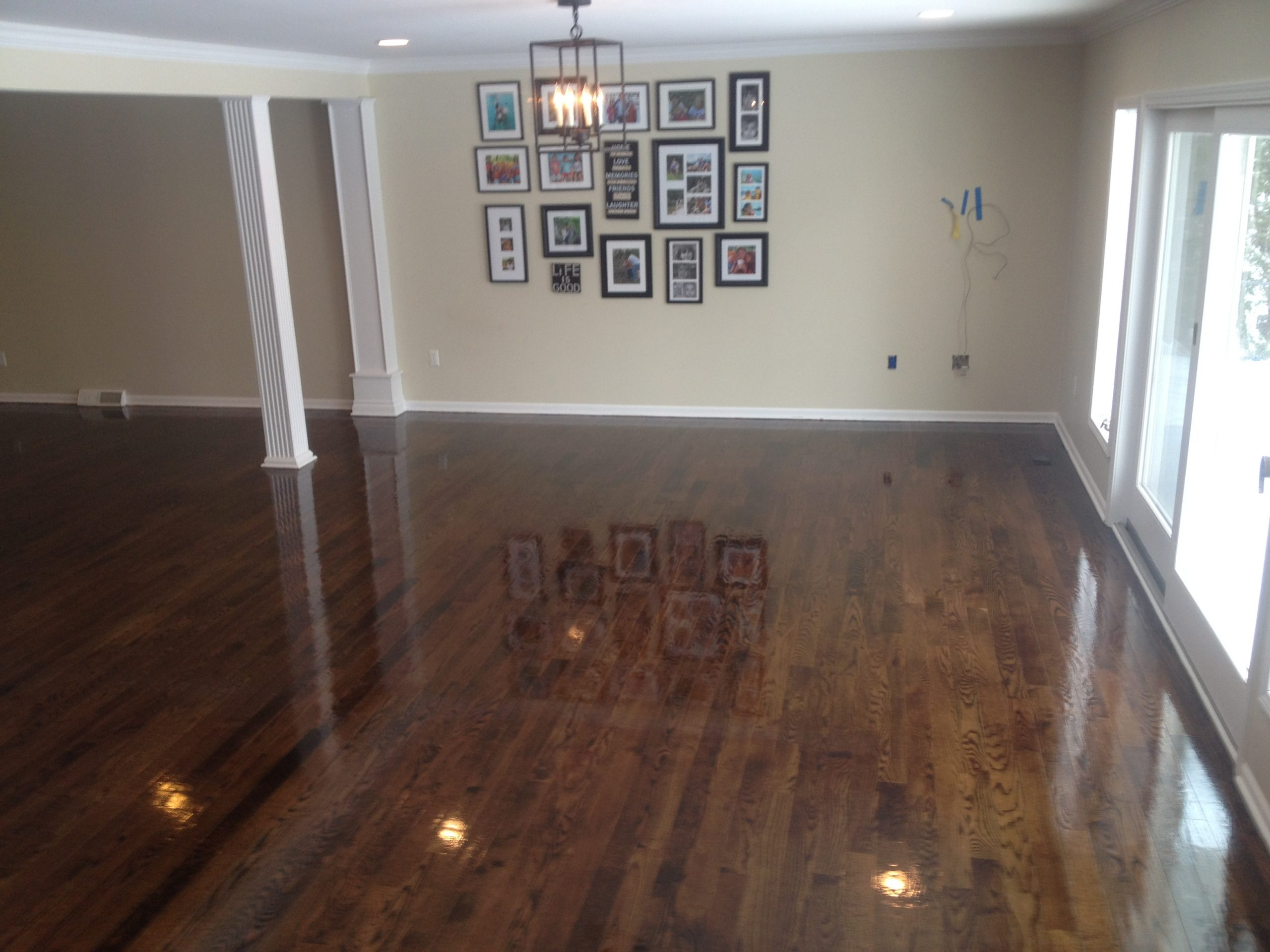 Hardwood floor refinished in Oakland County